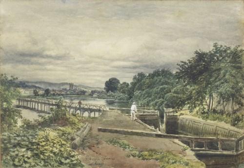 Lot 218 - SAM BOUGH RSA (SCOTTISH 1822 - 1901), HENLEY...