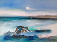 Lot 209 - MAY BYRNE, SUMMER BREEZE mixed media, signed...