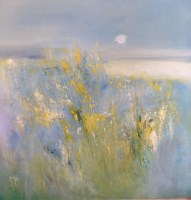 Lot 227 - MAY BYRNE, WILDFLOWER MEADOW mixed media,...