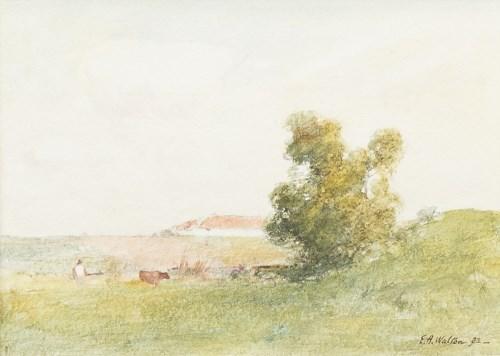 Lot 236-E A WALTON (SCOTTISH 1860 - 1922), COWS IN...