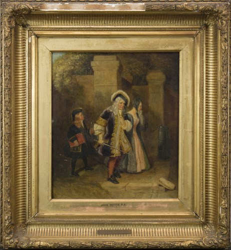 Lot 241-JOHN PETTIE RA (SCOTTISH 1839-1893), A FAMILY IN...