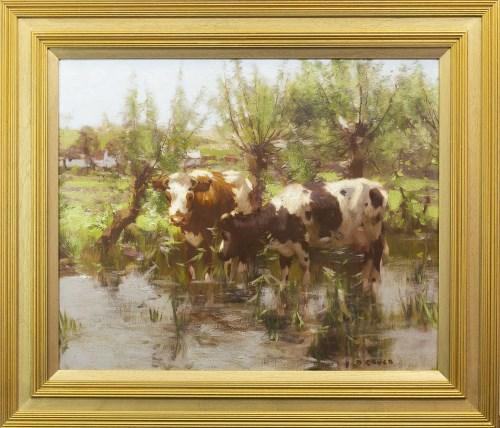Lot 242-DAVID GAULD RSA (SCOTTISH 1865 - 1936), CALVES...