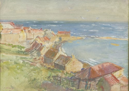 Lot 261-* JOHN MCGHIE (SCOTTISH 1867 - 1952), VIEW OF AN...