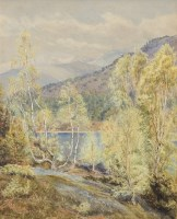 Lot 276-GERTRUDE MARTINEAU (BRITISH 1840 - 1924), BIRCHES ...