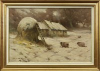 Lot 279-* ROBERT RUSSELL MACNEE (1880 - 1952), WINTER...