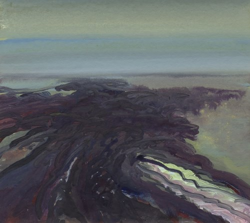 Lot 47-* IAN SCOTT, WET SHORE acrylic on canvas board...