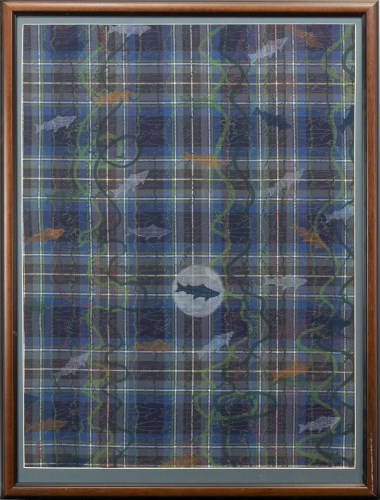 Lot 50-* LYNSEY GIBB, HIGHLAND SEALIFE; and ABSTRACT (A...