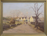 Lot 118-R FORSYTH, RURAL SCENE WITH CATTLE oil on canvas, ...
