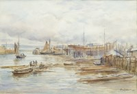 Lot 134-ALEXANDER BALLINGALL (SCOTTISH 1850 - 1910), PORT ...