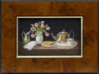 Lot 155-ENID CLARKE, FRUIT AND FLOWERS; and TEA AND...