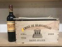 Lot 18-CROIX DE BEAUCAILLOU 2005 (6) A.C. Saint-Julien....