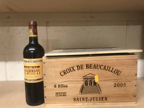 Lot 19-CROIX DE BEAUCAILLOU 2005 (6) A.C. Saint-Julien....