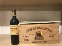 Lot 19-CROIX DE BEAUCAILLOU 2005 (6) A.C. Saint-Julien....