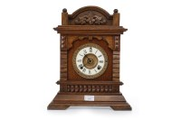Lot 1416-VICTORIAN MANTEL CLOCK the two train eight day...