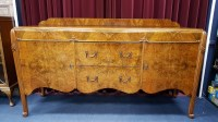 Lot 1645-WYLIE AND LOCKHEAD - EXTENSIVE WALNUT DINING...