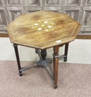 Lot 1663-VICTORIAN ROSEWOOD OCTAGONAL CENTRE TABLE the top ...