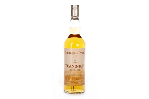 Lot 1001-TEANINICH THE MANAGER'S DRAM AGED 17 YEARS Active....