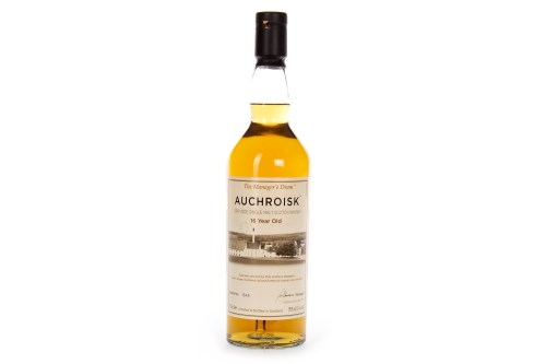 Lot 1009-AUCHROISK THE MANAGER'S DRAM 16 YEARS OLD Active. ...