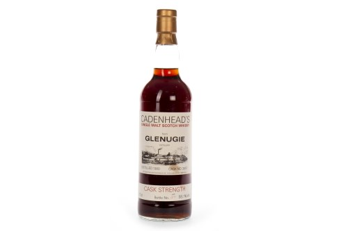 Lot 1011-GLENUGIE 1980 CADENHEAD'S CASK STRENGTH Closed...