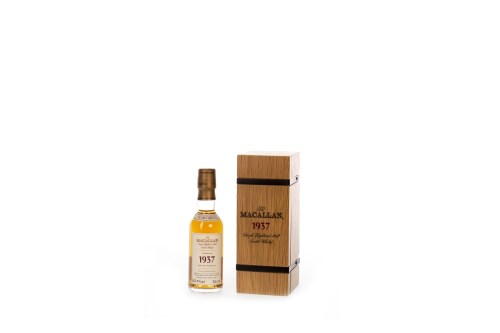 Lot 1036-MACALLAN 1937 FINE & RARE AGED 32 YEARS MINIATURE ...