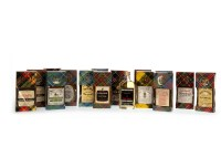 Lot 1042-SIXTEEN FLAT BOTTLED WHISKY MINIATURES Includes:...