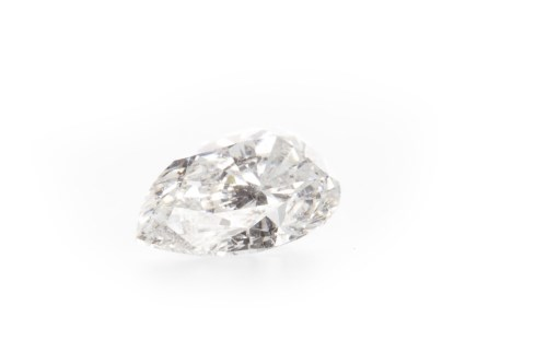 Lot 25-UNMOUNTED DIAMOND the pear shaped diamond...