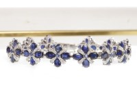 Lot 45-SAPPHIRE AND DIAMOND BRACELET formed by...