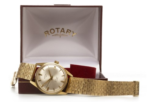 Lot 761-GENTLEMAN'S ROTARY NINE CARAT GOLD MANUAL WIND...