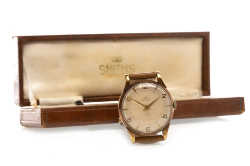 Lot 770-GENTLEMAN'S SMITHS NINE CARAT GOLD MANUAL WIND...