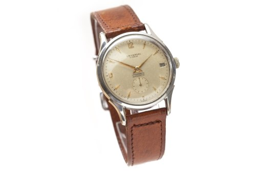 Lot 787-GENTLEMAN'S UNIVERSAL GENEVE STAINLESS STEEL...