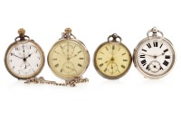 Lot 794-FOUR VARIOUS POCKET WATCHES including a Victorian ...
