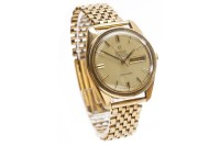 Lot 802-GENTLEMAN'S OMEGA SEAMASTER NINE CARAT GOLD...