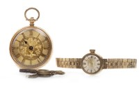 Lot 803-LADY'S SMITHS NINE CARAT GOLD MANUAL WIND WRIST...