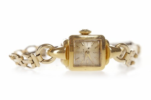 Lot 812-LADY'S OMEGA EIGHTEEN CARAT GOLD MANUAL WIND...