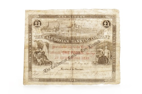 Lot 506-THE CALEDONIAN BANKING COMPANY LIMITED £1 ONE...