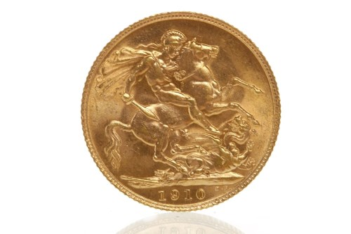 Lot 511-GOLD SOVEREIGN DATED 1910