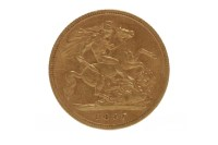 Lot 512-GOLD HALF SOVEREIGN DATED 1897