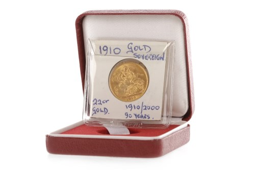 Lot 517-GOLD SOVEREIGN DATED 1910