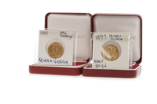 Lot 522-TWO GOLD HALF SOVEREIGNS DATED 1897 AND 1899