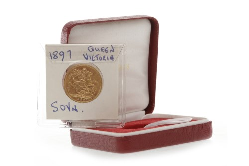 Lot 523-GOLD SOVEREIGN DATED 1897