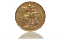 Lot 525-GOLD SOVEREIGN DATED 1899