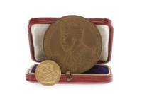 Lot 530-GEORGE VII GOLD SOVEREIGN, 1904 along with a 1911 ...