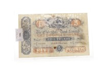 Lot 536-THE CLYDESDALE BANK LIMITED £5 FIVE POUNDS NOTE...