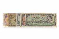 Lot 553-GROUP OF VARIOUS CANADIAN BANK NOTES including a...