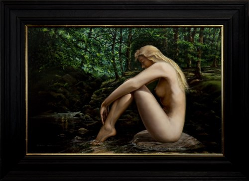Lot 21-* FREDERICK WAKEMAN SMITH, NAIAD oil on canvas,...