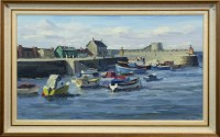 Lot 23-* JAMES FULLARTON DA, SALTCOATS HARBOUR oil on...
