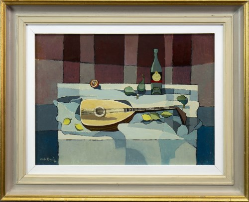 Lot 35-* CARLO ROSSI, STILL LIFE WITH MANDOLIN AND...
