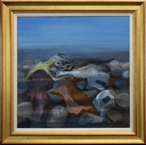 Lot 48-* DANNY FERGUSON, FUTURE FOSSILS mixed media on...