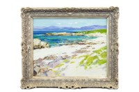 Lot 60-* JOHN ROSS, A WEST COAST PANORAMA oil on...