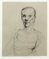 Lot 83-* PETER HOWSON OBE, ESSEX ROAD etching, titled,...